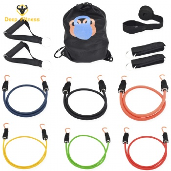 11Pcs/Set Fitness latex Resistance Bands Exercise Tubes Practical Elastic Training resistance tubes set